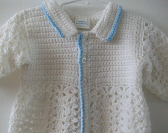 White Christening Sweater