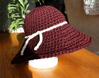 Linnea Hat // Stylish Fall Sun Hat // Floppy Winter Hat // Marsala Wide Brim Hat // Boho Chic Floppy Hat // Winter Fashions // Gifts for Her