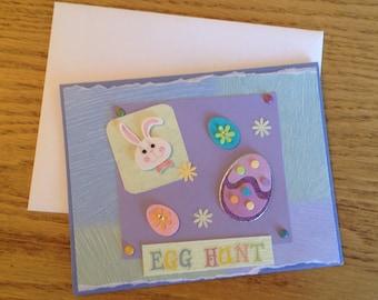 Egg Hunt Handmade Card