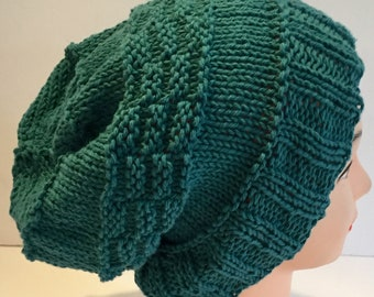 Fathers Day Gift, Made to Order Hats, Cotton Knit Slouchy, Slouchy Hat, Eco Friendly Hat, Slouchy for Him, Womens Hats, Cotton Hat