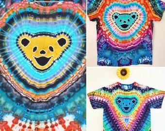 Custom Grateful Dead Dancing Bear Tie Dye