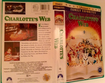 Charlotte's Web VHS (1973) Paramount Green Clamshell Release