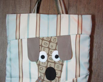 Surprised  Puppy Tote Bag -  Market or Book Bag