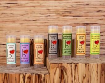 Organic Lip Balm Gift Set // You Choose 3 (New! Lavender Lemongrass in stock!)
