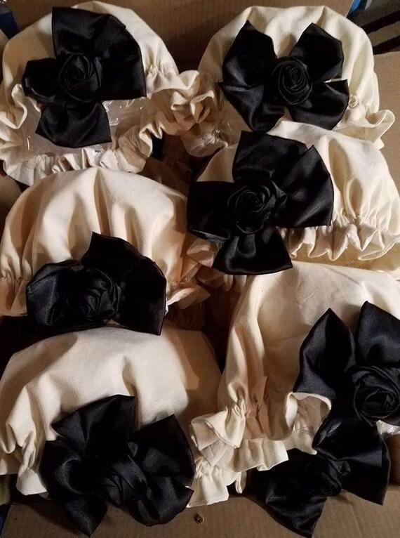 Lolita Cosplay, Bonnet, Lolita, Vintage Bonnet, Country Bonnet, Elastic Bonnet, Prairie Bonnet, Steampunk, Goth, Retro, Vintage
