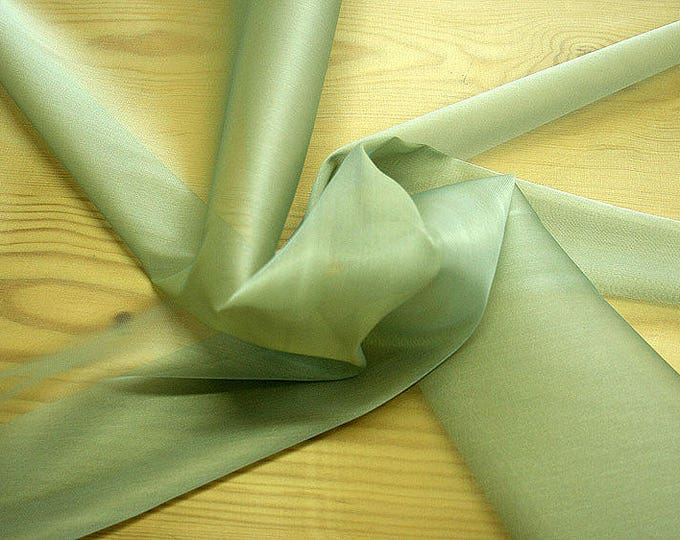 232092-organdy Cangiante Natural Silk 100%, 135 cm wide, made in Italy, dry cleaning, weight 55 gr, price 1 meter: 55.24 Euros