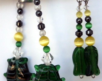 Green Fish bracelet and earring set