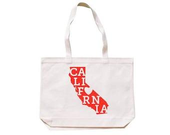 City Living Tote bag - Cali Love - California - Market bag - Reusable bag - Canvas tote - Shopping bag - Shoulder bag - Organic