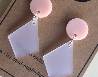 Ballerina Pink and Frost Dangles.