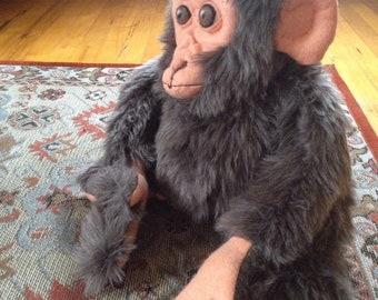 OOAK monkey doll stuffed animal plush
