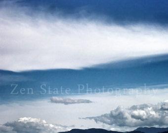 Epic Sky Photography. Landscape Print. Cloud Photography. Landscape Photo Print, Framed Print Photography, or Canvas Print. Home Decor.