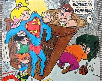 Old Comic Book, Sugar and Spike number 83, Bernie the Brain, DC comic, Vintage Comic, Superman, Sheldon Mayer, 1960s, Ponytail Hero