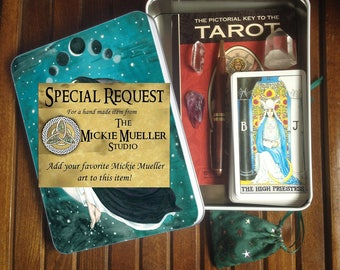Special Request Jumbo Tarot Tin or Travel Altar