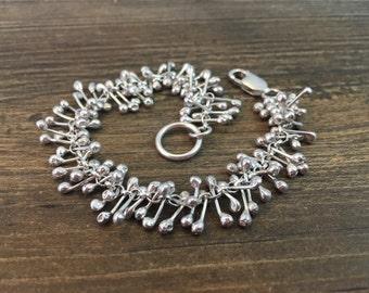 Sterling silver bracelet, handmade bracelet, stem bracelet, unique bracelet, different bracelet, bracelet, silver bracelet