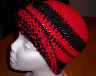 Hats, Caps, Beanies, Men's hats, Women's hats, Accessories,Red, Black, Crochet