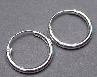 Sterling Silver Interchangeable Hoop Earrings, Small  Silver Hoop Earrings, Sterling Silver Earrings, Charm Earrings