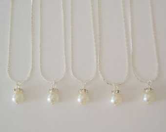 6 Bridesmaid Gift Necklaces Simple & Elegant, Bridesmaid Jewelry