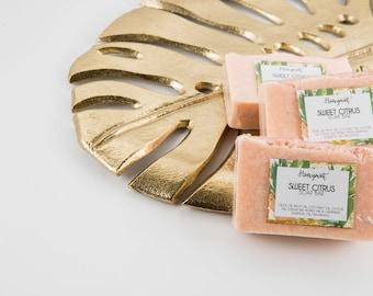 Sweet Citrus Soap / Citrus Soap / Old School Soap / Artisan Soap / Handmade Soap / Bar Soap/ Pink Soap/ Handcrafted Soap