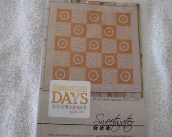 Sunkissed Days Quilt Pattern by Sweetwater featuring Sunkissed fabrics by Moda
