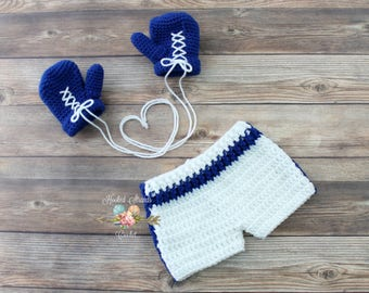 Boxing outfit, Baby boy outfit, Newborn photo prop, Crochet boxer set, Baby gift,  Boxing gloves, Infant costume, Baby shower, 0 - 6 months