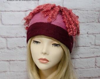 felting burgundy winter hat felt hat burgundy winter hat burgundy beanie winter burgundy slouchy beanie burgundy winter beanie slouchy hat