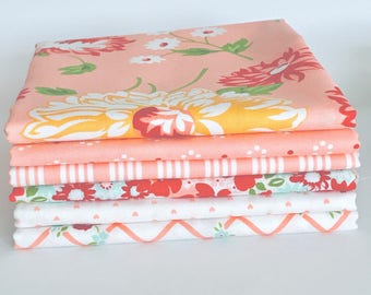 Fat Quarter Bundle The Good Life by Bonnie and Camille for Moda- 6 Fabrics Pinks