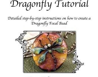 Kerribeads Tutorial Lampwork Dragonfly Focal Bead - Instant Download PDF File