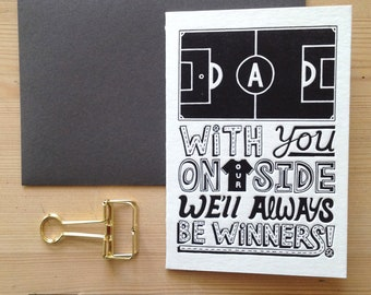 Dad on side luxury letterpress father's day card