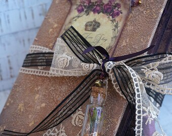 "Fairy tale ""Beauty and the Beast""  Wedding Guest Book, Medieval Photo album, Shabby Chic Wedding, Custom Wedding Photo Booth album"