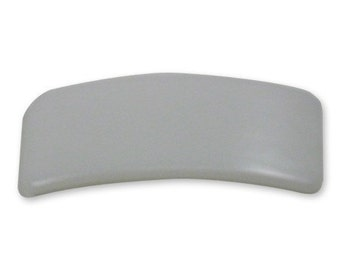 25 Rectangle Plastic Barrette Tops - 1 3/8 x 3 9/16 inches
