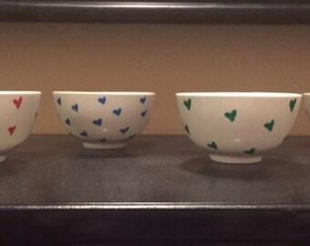 Small heart bowls