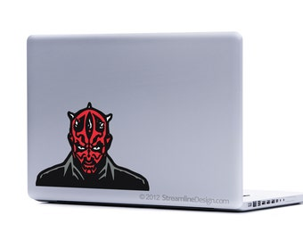 Star Wars Darth Maul Laptop Decal | sith lord jedi the dark side macbook decal car decal free shipping stickers for laptops darth vader