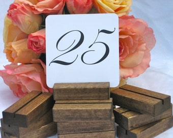 Table Number Holder + Rustic Table Number Holder (ON SALE) Set of 30