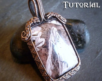 TUTORIAL - Soul Window Pendant - Wire Wrapped Lesson - Wire Wrapping Tutorial - Pendant Necklace Jewelry Class -Focal Bead or Cabochon Tut