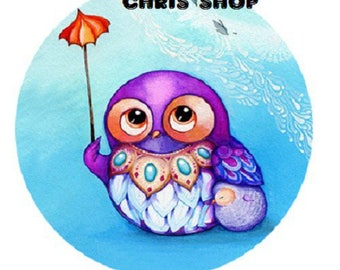 18mm, small purple OWL