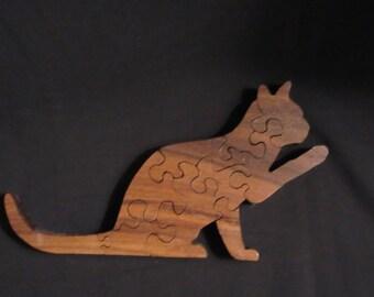 Custom Wood Cat Puzzle