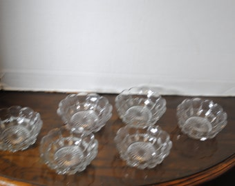Lot of 6 Fostoria Glass Berry Bowls 4 1/2 inches