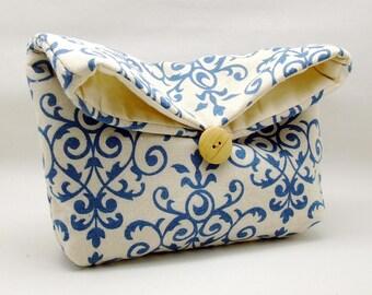 Foldover clutch, Fold over bag, clutch purse, evening clutch, wedding purse, bridesmaid gifts - Damask (Ref. FC4)