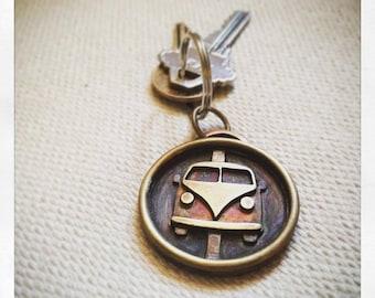 Hand pierced Volkswagen Bus Keychain