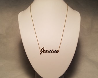 "1980's 18.5"" Princess Length 1/20 14KG ""Jeanine"" Necklace"
