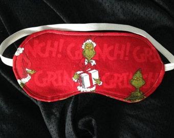 New GRINCH SLEEP MASK Eye Sleepwear Christmas Bedroom Clothes Stocking Stuffer