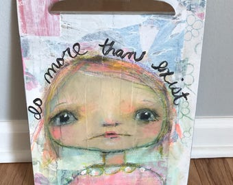 Altered Clipboard - Original Art and Collage