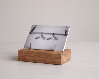 Wooden Business Card Stand made from Oak, for Horizontal or Vertical Business Cards | Desk | Exhibitions | Craft Fairs | Office