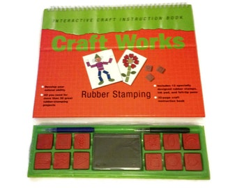 Rubber Stamping Set (Interactive Craft Instruction Book)  Spiral-bound from Craft Works: