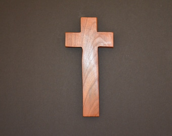 """Wood Cross; Christian Gift; Home Decor; Wood Gifts; Wedding Gift; Sympathy Gift; Mesquite;4""""x9""""x1""""; Free Ground Shipping USA; cc20-1031518"""