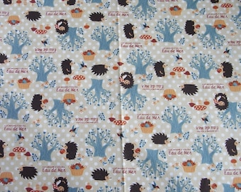 Japanese Fabric Hedgehog   half  yard  RESERVED for SewTime