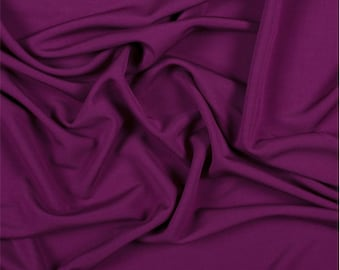 Magenta Matte Jersey, Fabric By The Yard