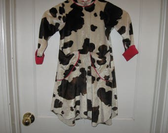 Poetica Cow Dress Made In USA Size 5