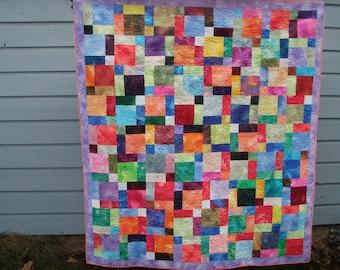 Handmade Quilt Lap Sofa Throw Fossil Fern Sampler Quiltsy Idaho