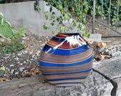 Jupiter Stripe Vase, Deep...
